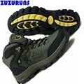 Trilha respirável formadores homens sapatos de alta top sapatos flats ankle boots impermeáveis homens zapatillas hombre masculino esportivo f319