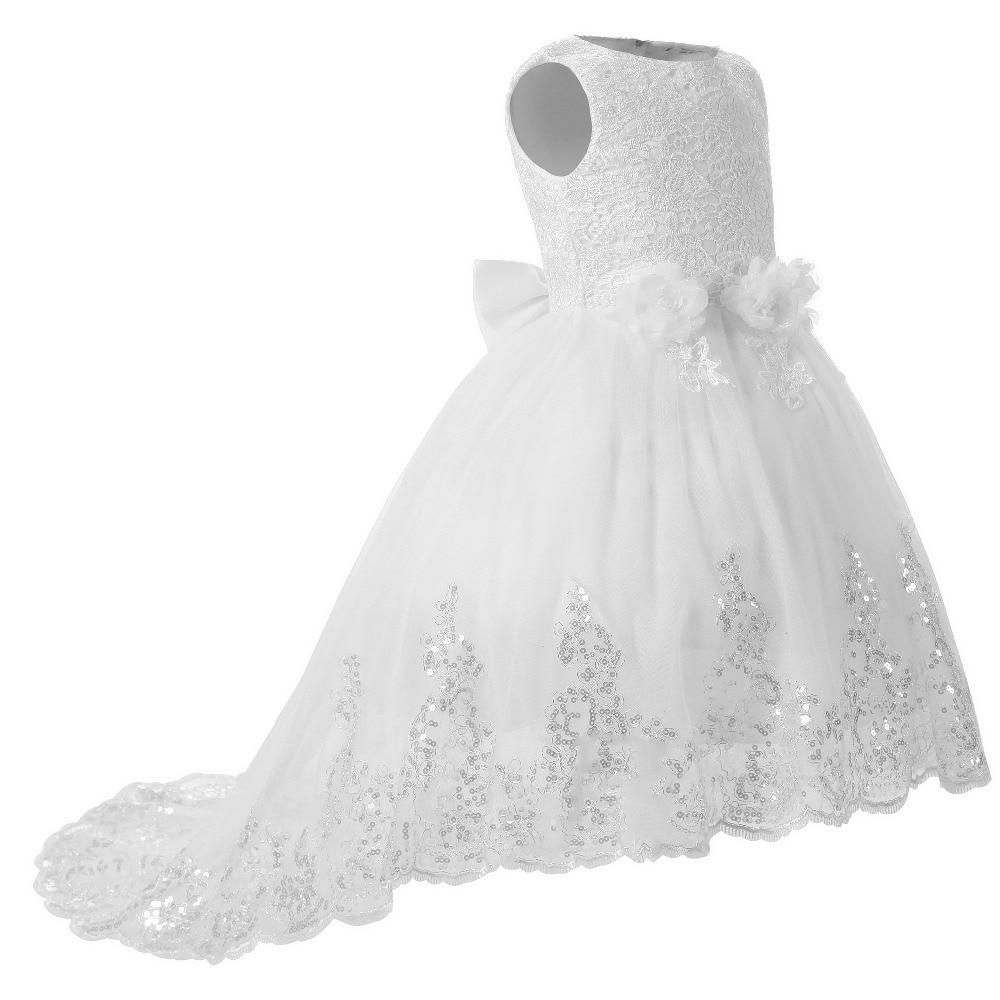 Spitze Blume Mädchen Weißes Kleid Für Hochzeit Geburtstag Tanzparty ...