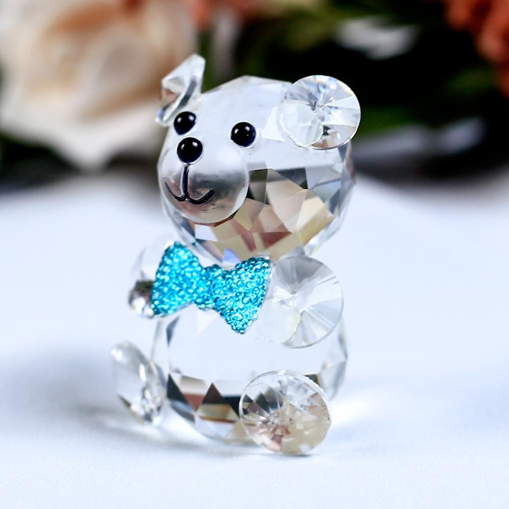 Mariposa linda Oso decorativo Figuritas de cristal Miniaturas - Decoración del hogar - foto 4