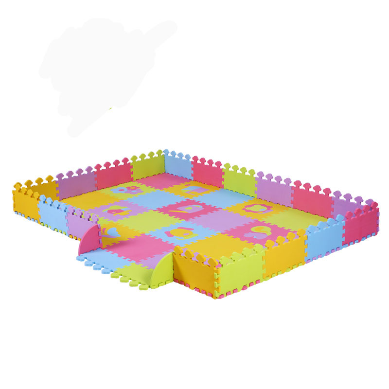 3 in 1 48pcs Farm Soft Baby EVA Foam Puzzle Carpet Play Mat For Chidlren Kids Activity Play Fence For Kids Climb Pad Puzzle Mat single sided blue ccs foam pad by presta