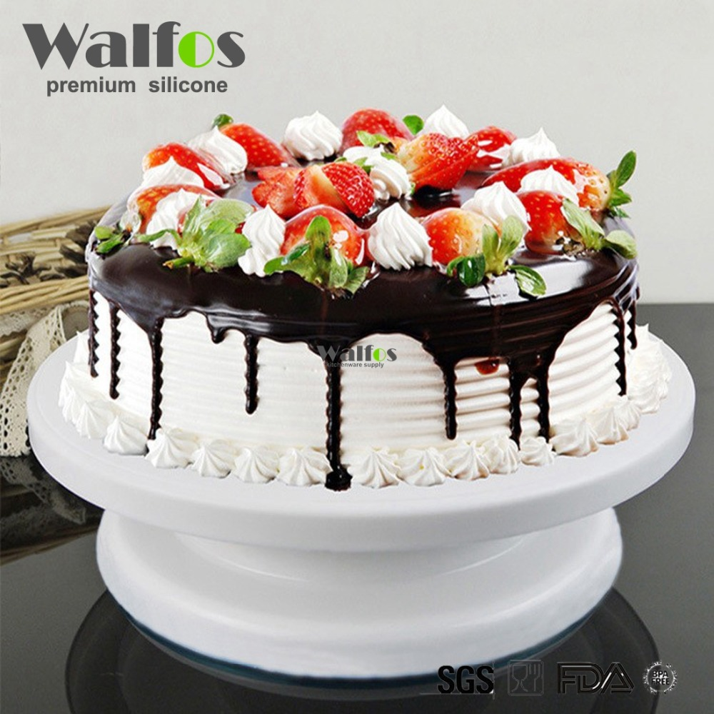 WALFOS Cake Decorating Tools Cake Stand Turntables Decorating Stand Platform Cupcake Stand Cake Swivel Plates Tools & WALFOS Cake Decorating Tools Cake Stand Turntables Decorating Stand ...