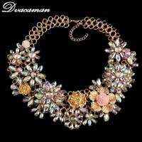 2016 New Luxury Necklaces & Pendants Beads Statement Gem Collier Femme Boho Vintage Maxi Necklace Wholesale 8771