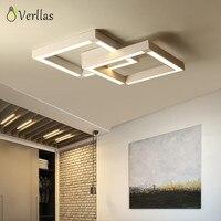 Verllas современный светодиодный Потолочные светильники для гостиной столовой спальня с пультом дистанционного управления Роскошные квадрат