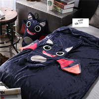 Cartoon Little monster doll pillow blanket 110 * 160cm Baby blankets cute plush toys Christmas gift Adult kids children Cushion