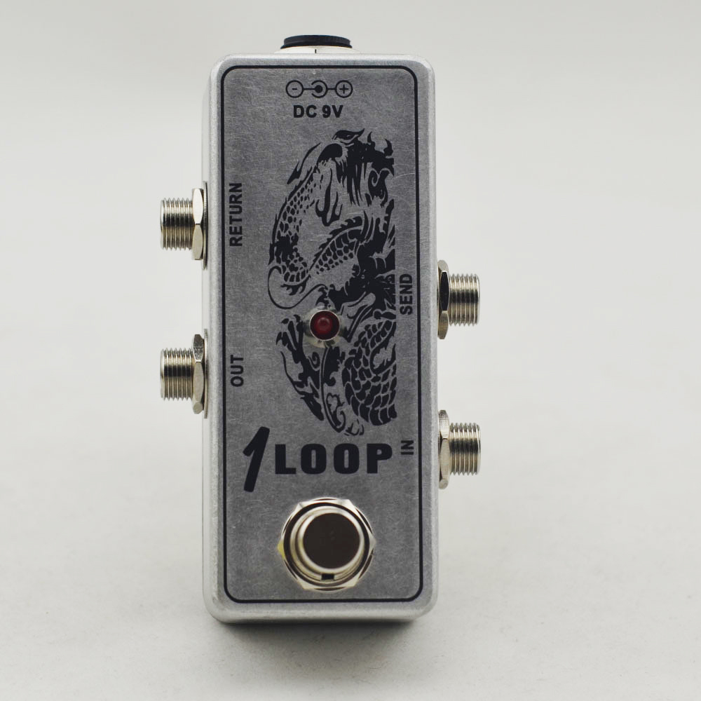 mini guitar looper effect pedal aluminum loop switch box effect pedal ture bypass channel. Black Bedroom Furniture Sets. Home Design Ideas