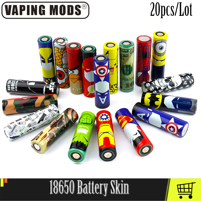18650 Battery Skin Cover Protective Skin For 18650 Battery Vape Accessories 20pcs/lot(China)