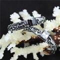 Top Selling Animal Flower Crystal Bracelet 316L Stainless Steel Fashion Clean Black Crystal Bracelet