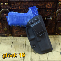B.B.F MAKE kydex pokładzie Talii wisi Thermal plastic case Prawo Kabura pistoletu pistol holster Kydex płaszcza Pull szybki dla Glock 19