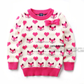 new 2014 autumn winter sweater children clothing baby knitted sweater girls Lovely knitting shirt kids bow owl sweaters pullover