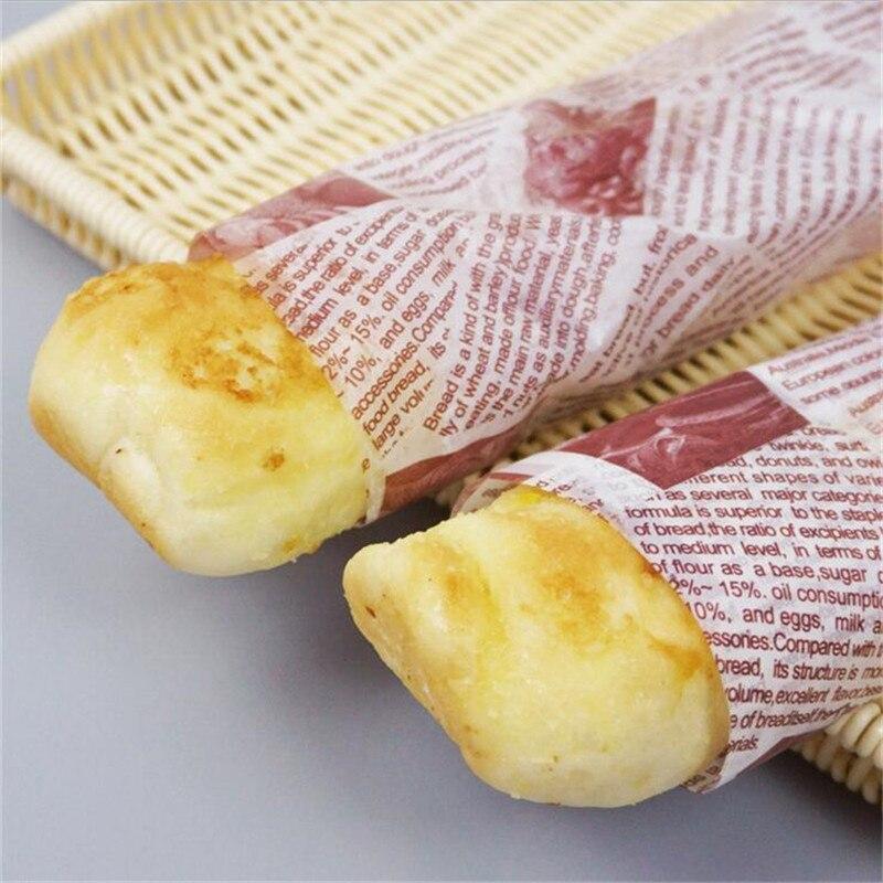 50pcs/lot Waterproof Sandwich Food Wrapping Paper Hamburgers Greaseproof Baking Soap Cake Nougat Packaging