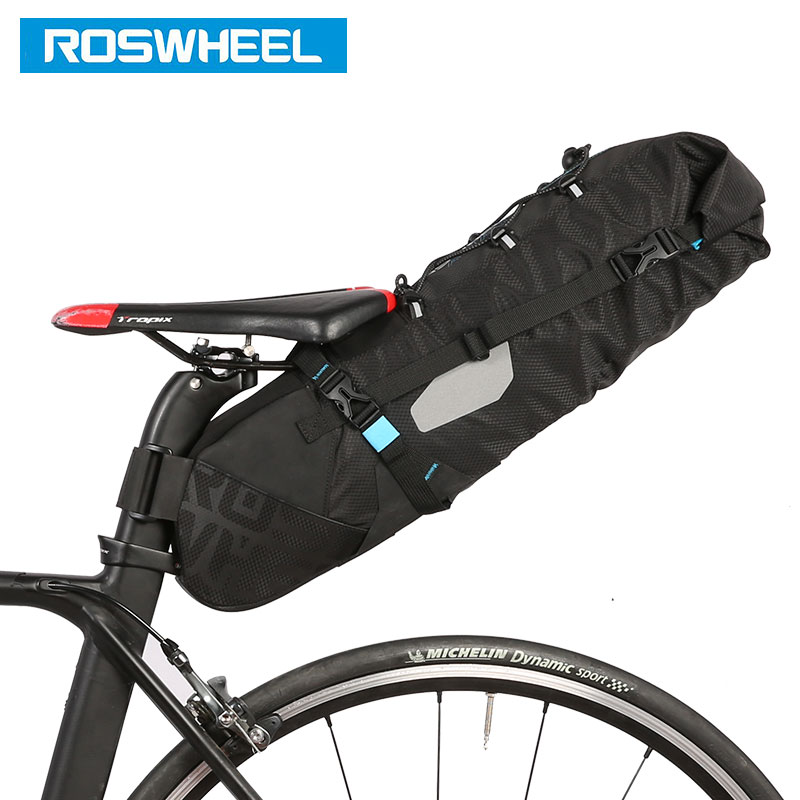 ROSWHEEL Bicycle Tail Bag waterproof Seat Post Storage Pack Cycling MTB Road Bike Rear Pannier Pouch Package Bolsa 131372