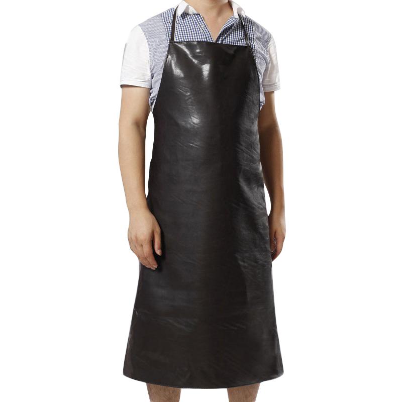 Obedient Waterproof Oil-proof Aprons Leather Bib Apron Labor Working Protective Clothing For Canteen Kitchen Restaurants Length 95cm Mild And Mellow Safety Clothing