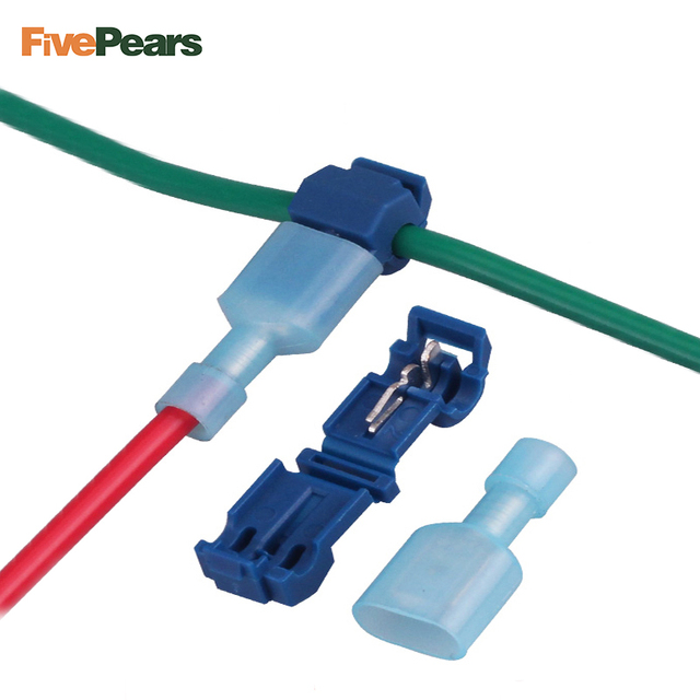 FIVEPEARS 30SETS/lot L1 Blue T Type Quick Splice Crimp Terminal Wire ...