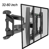 32 60 inch Full Motion TV Wall Mount 6 Swing Arms Bracket with Cable Management