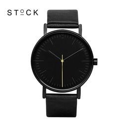 Stock quartz watch men top brand black leather watches relojes hombre 2016 horloge orologio uomo montre.jpg 250x250
