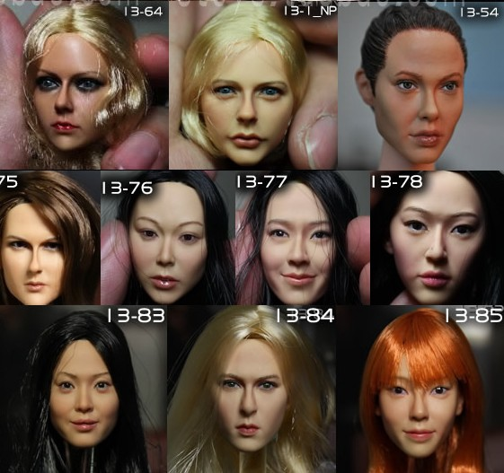 1/6 scale female head shape for 12 action figure doll accessories doll head carved not include the body,clothes and other km12 1 6 figure doll head shape for 12 action figure doll accessories game of death bruce lee head carved not include body clothes