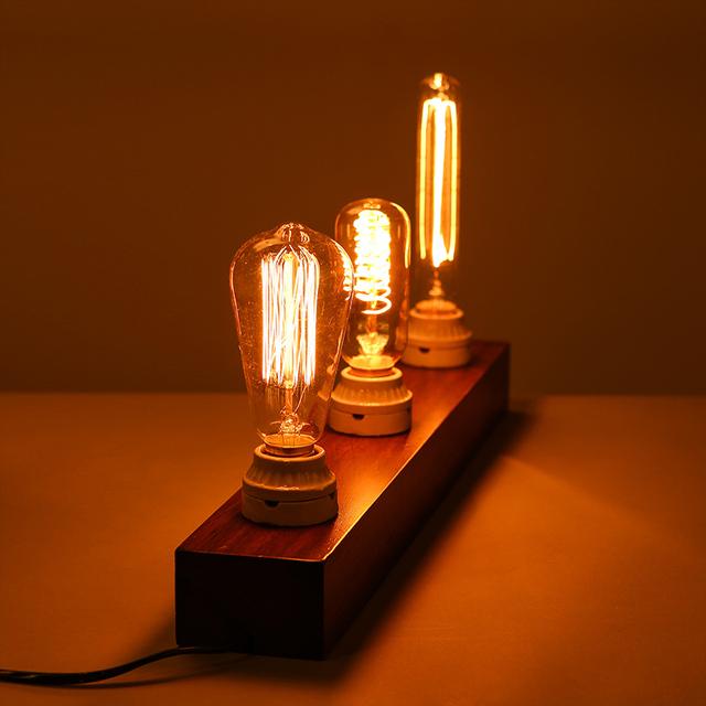 Retro ampolla Vintage Bombilla de Edison E27 220 V 40 W ST64 G80 G95 T10 T45 A19 bombilla incandescente lámpara de edison decoración de bombilla de filamento