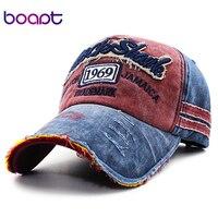 BOAPT Retro Letter Embroidery Casual Hats Hip Hop Women Hat Summer Cotton Vintage Male Caps Snapback