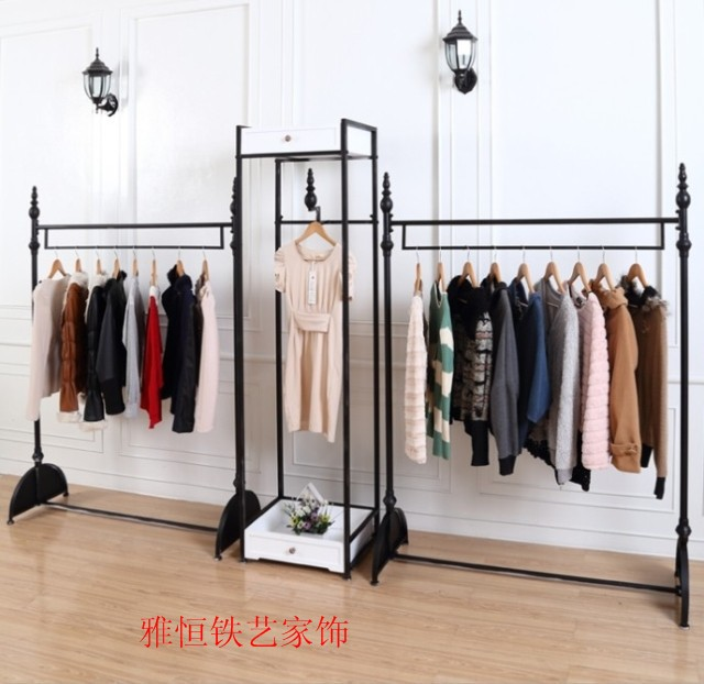 American Vintage Iron Hanger Clothing Rack Clothing Store Shelf - Creative clothes racks