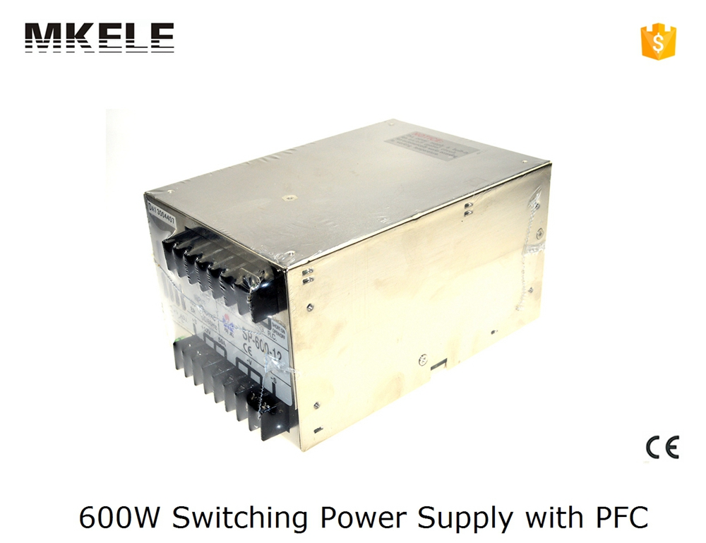 ФОТО multi terminals 600w smps SP series 36V16.6a smps switch mode power supply 600w SP-600-36 16.6A with CE certified with PFC