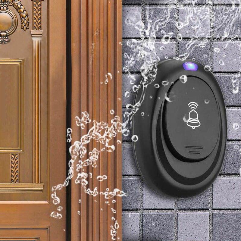 Waterproof EU Plug-in 220V AC Digital LED 36 Cord Song Music 100M Range Wireless Remote Control Home Door Bell Doorbell waterproof black doorbell eu plug in 220v ac digital led music 100m range wireless remote control home door bell fashion