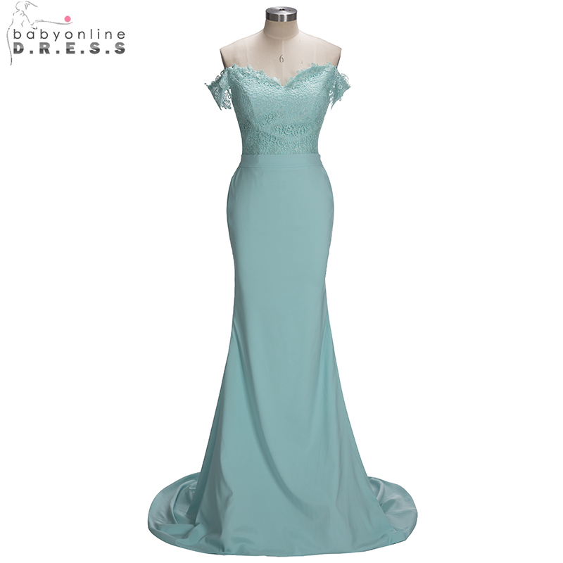 Elegant Lace Mint Green Mermaid Bridesmaid Dresses 2019 Sexy Off Shoulder Wedding Party Dresses robe demoiselle d'honneur