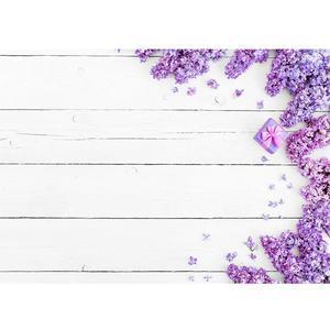 Image 1 - الأرجواني الزهور الأبيض خشبية النسيج التصوير خلفية للصور استوديو الطفل الوليد الخلفيات للصور النار السلع اللعب