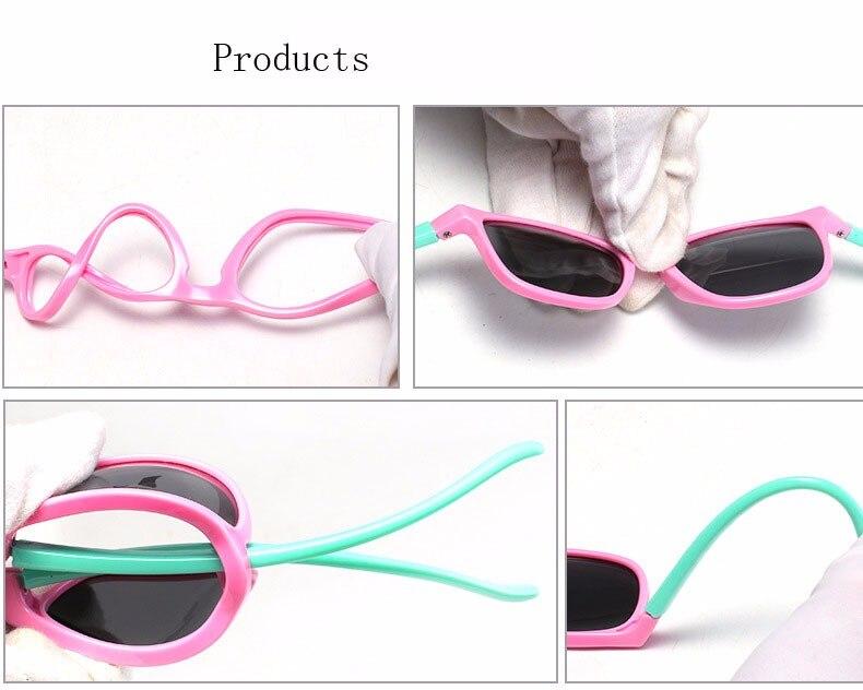 955530cb6920e ᓂDOIS Oclock Crianças da Segurança Do Bebê Óculos Polarizados TAC ...