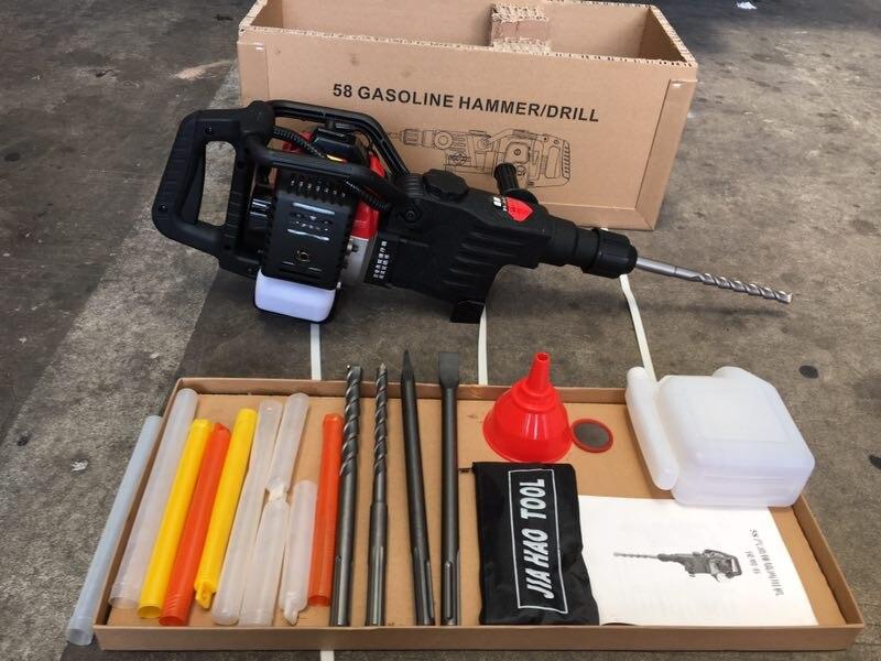 Multi gasolina powered martelo pick gasolina disjuntor duplo-purpose ferramenta de perfuração broca máquina