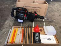 Multi benzin angetrieben hammer pick benzin breaker dual-zweck bohrwerkzeug bohrer maschine