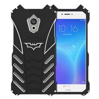 R just Brand Luxury Batman Design Metal Aluminum Armor Cases For MeiZu Pro 6 / MX6 Case Cover Phone Shell Skin