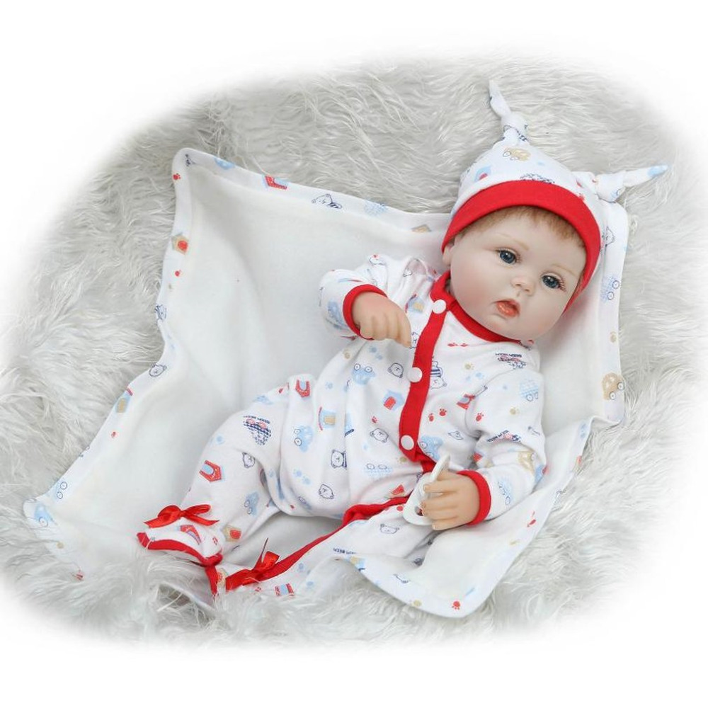 Hot! Soft Silicone Reborn Baby Doll 16 inch Kids Playmate Gift For Girls Alive Soft Toys For Bouquets Doll Babies Reborn Dolls 18 inch vinyl reborn doll kids playmate gift for girls 45 cm baby alive soft toys for children lifelike reborn babies dolls