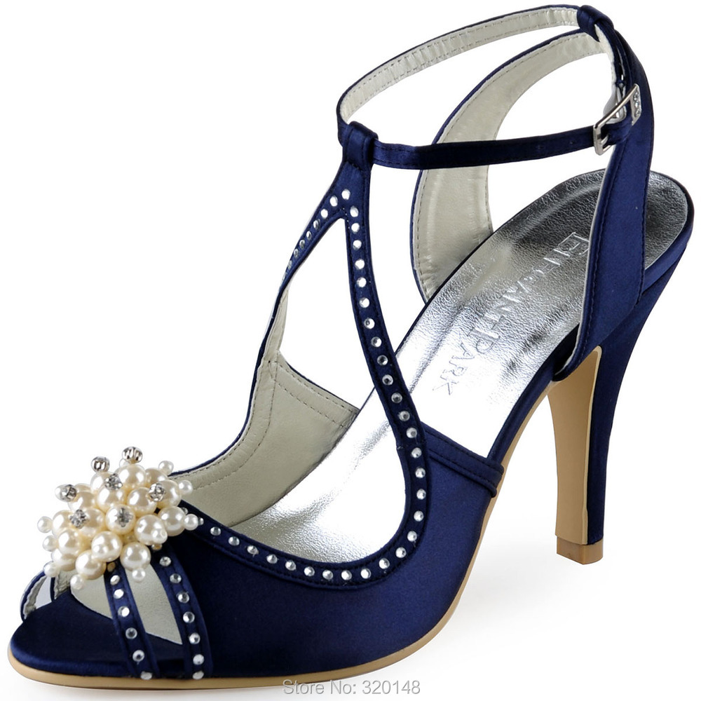 Navy sandals shoes