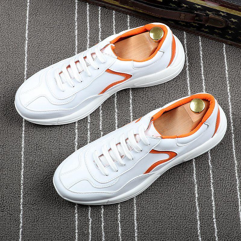 CuddlyIIPanda marque de luxe printemps été automne mode baskets hommes à lacets blanc microfibre respirant et chaussures hommes décontractées