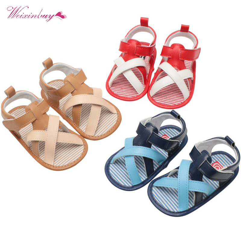 Baby Girls Boys Canvas Sandals PU Soft Sole Infant Princess Flats Bowknot Toddler Summer Walking Shoes 0-18M