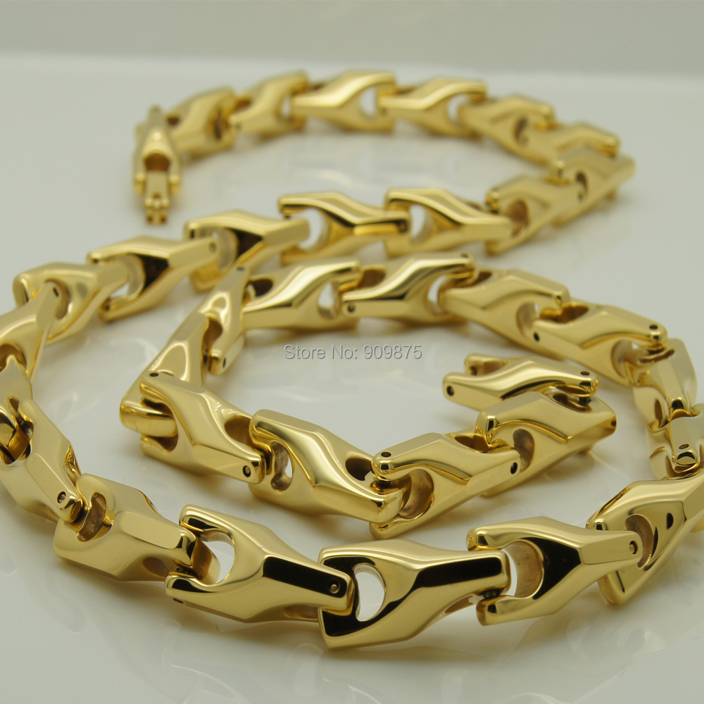 vary length 14\'\' 40\'\' 8mm width unique gold plating classic design ...