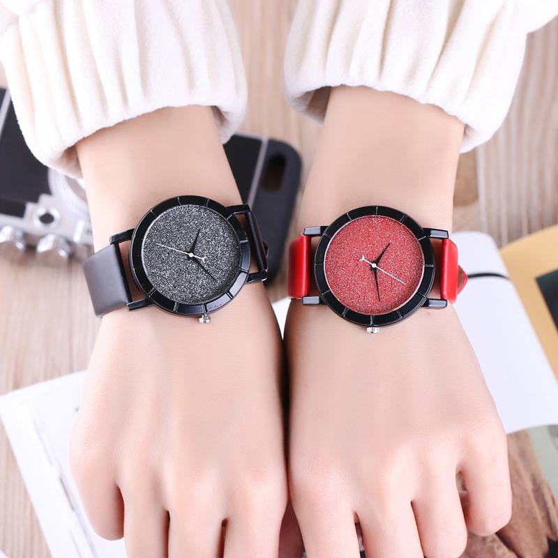 Business Quartz Wrist Watch Leisure Time Latest Fashion Student Surface Moon Starry Sky Ma'am Lovers Wrist Watch Hot Recommend