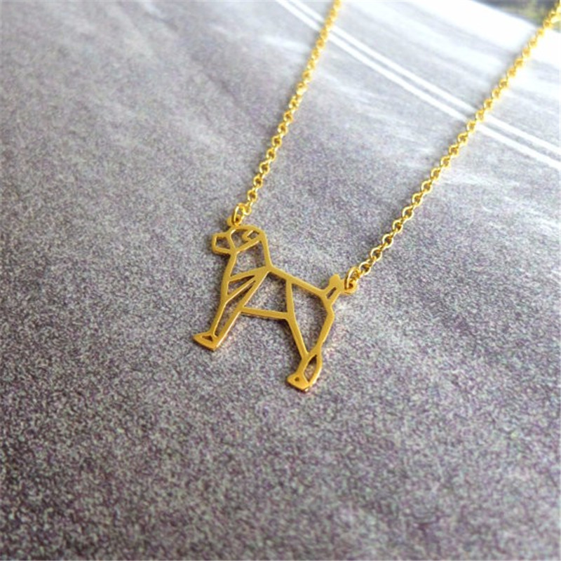 fashion hollow cute Jack Russel Terrier Pendant Necklace animal Pet Necklaces for Women girls pretty Christmas Gift