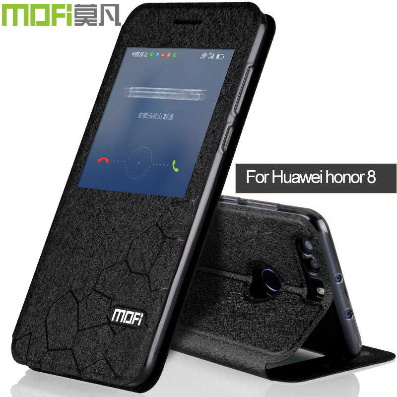 Huawei honor 8 case cover flip leather mofi original huawei honor8  coque silicon ultra thin auto wake up sleep case slim