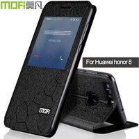 Huawei Honor 8 Case Cover Flip Leather Mofi Original Huawei Honor8 Coque Silicon Ultra Thin Auto