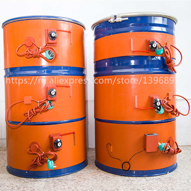 ФОТО Barrels of heating drums heaters silicone rubber heating drums plus heating temperature zone Gas cylinder heating zone