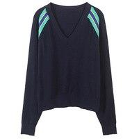 SRUILEE Design Retro Muiti Striped Sweater High End 2019 New Winter Striped Jumper Women Sweater Loose Pullover Knit Tops Runway