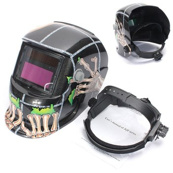 Solar Powered Welding Helmet Big View Auto Darkening/Shading Grinding Polish Welding Helmet Welder Goggles/Mask/Cap welding mask best optical quality 1 1 1 1 big view 100 73mm 3 94 2 87 respirator safety hat compatible ce solar welding helmet