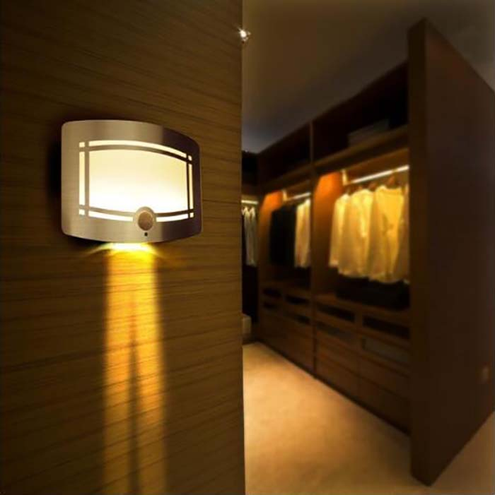 Free Shipping LED Induction Lamp Powered Motion Sensor Bedroom Decoration Lighting Wall Path Laundry Stair IR Sensor