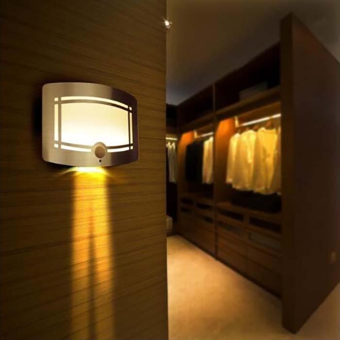 Free Shipping LED Induction Lamp Powered Motion Sensor Bedroom Decoration Lighting Wall Path Laundry Stair IR Sensor