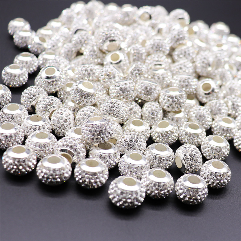 UK 14F 15 SILVER TONE MIXED RHINESTONE CHARMS//PENDANTS~8x5mm~Necklace~Earrings