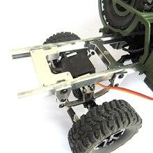 Para WPL B1 B 1 B14 B 14 B16 B 16 B24 B 24 C14 C 14 B36 MN Modelo D90 D91 RC Peças de Upgrade Do Carro Modificado de Fixação Da Placa de Metal Do Leme