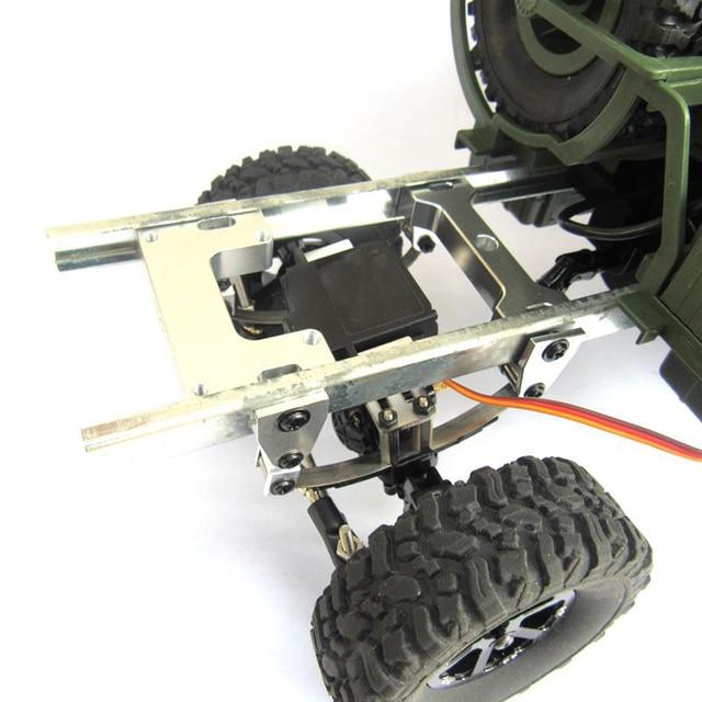 Per WPL B1 B 1 B14 B 14 B16 B 16 B24 B 24 C14 C 14 B36 MN modello D90 D91 RC aggiornamento auto parti modificato timone piastra di fissaggio in metallo