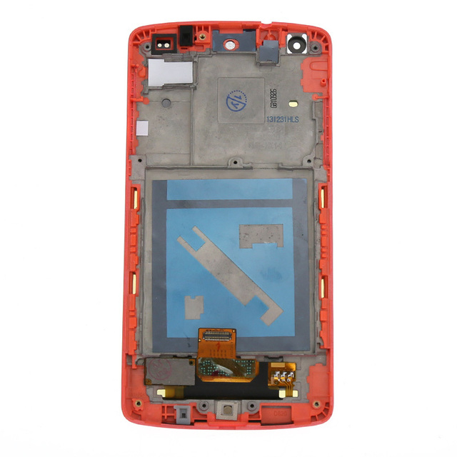 For LG Google Nexus 5 D820 D821 LCD Display Touch Screen Digitizer Assembly + Frame, Red Free Shiping + Track No.