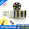 2pcs Lot High Power T20 7443 White Ambor Dual Color Switchback 42 SMD LED Turn Signal